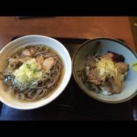 かぶり丼 肉そばセット(冷)