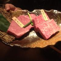 ステーキ二種盛り