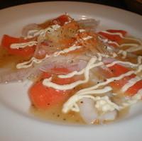 蛸とサーモンのカルパッチョ