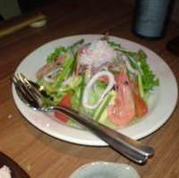海の幸のサラダ