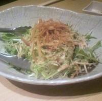 寄せ豆腐と水菜のサラダ