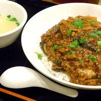 茄子と豚肉のあんかけ炒飯