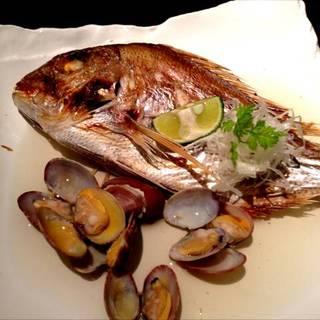 本日の鮮魚の焼き塩煮つけ