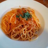 渡り蟹の入ったトマトクリームソース スパゲッティー