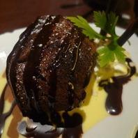 アイスを包んだ焼きチョコケーキ