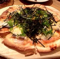 山芋と明太子のピザ