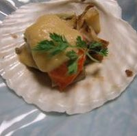 ホタテ貝の焼き物