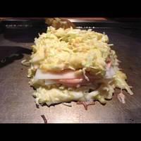 明太子と餅のミルフィーユ焼き