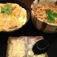 大山地鶏の親子丼とうどんのセット