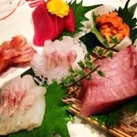 おまかせ天然鮮魚五種盛り
