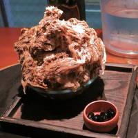 かき氷(京都小山園のほうじ茶)