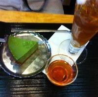 ほうじ茶ゼリー&抹茶チーズケーキ