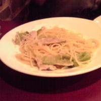 イベリコ豚とレタスの ゆず胡椒スパゲティ