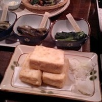 信州そば粉の揚げ出し豆腐