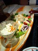豆腐と湯葉のサラダ
