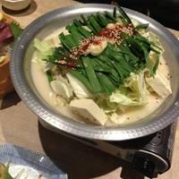 白湯スープのもつ鍋