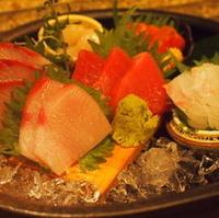 鮮魚の四点盛り