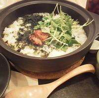 めかぶと長芋の茶鍋