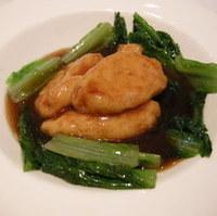 揚げ豆腐と海老卵の煮込み
