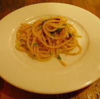 イタリア産カラスミ、フレッシュトマトソースのスパゲッティー