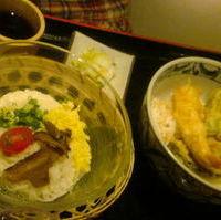 ミニ天丼と大和三輪冷し素麺のセット