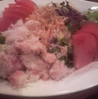 ズワイ蟹とアボカドのサラダ
