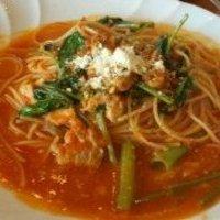 トマトソースのツナパスタ