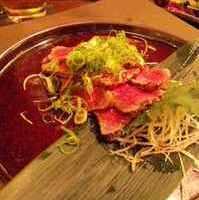 シャラン鴨のローストと炙り茸のサラダ