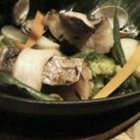 的鯛のローストとたっぷりの秋野菜