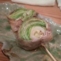 レタス豚バラ肉巻 鮎の炭火焼き ごまふぐ白子天ぷら
