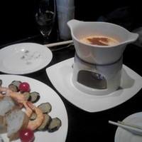 牡蠣フライと季節野菜のオリジナルスパイシーチーズフォンデュ
