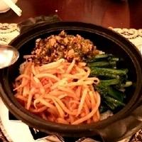 そぼろ高菜土鍋焼飯