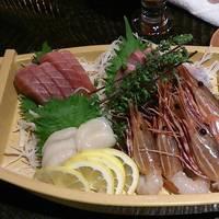 新鮮旬魚のお刺身4点盛り