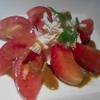 トマトの棒棒鶏サラダ