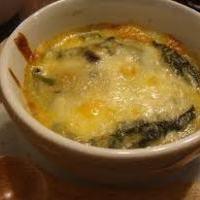 牡蠣とほうれん草のトロトロチーズグラタン