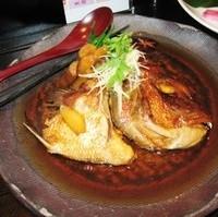 天然鯛かぶと煮
