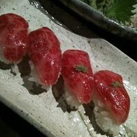 黒毛和牛の握り寿司
