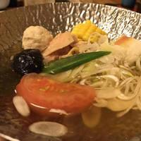 名古屋コーチンと夏野菜の鍋