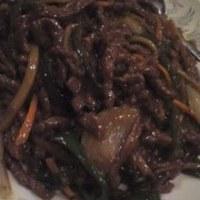 牛肉とピーマンの細切り炒め