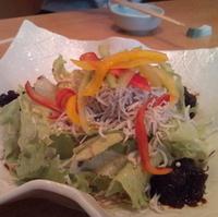 岩海苔しらすサラダ