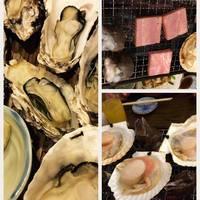 浜焼のホタテ、オススメのつぶ貝