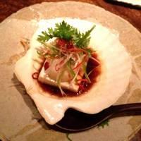 帆立貝柱と豆腐の香り蒸し