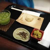 わらび餅(お煎茶・富貴豆・塩昆布付)