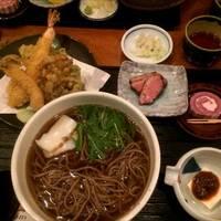 サンマと野菜の天ぷら蕎麦