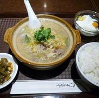 羊肉と東北漬け白菜の土鍋定食