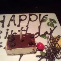誕生日のデザートプレート