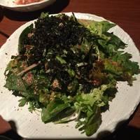 ほうれん草の塩チョレギサラダ
