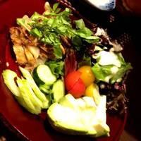 ゴールドポークの塩麹焼き~生野菜添え