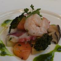 きのこと野菜と魚介のマリネ