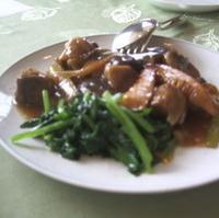 アワビと牛肉の煮物